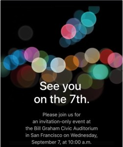 It's Official: Sept. 7 Apple Event Has Been Announced